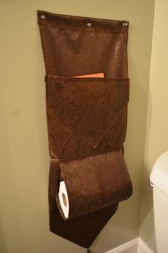 Dollar Store Bathroom Organizer - Organize your small bathroom with this sewing project.