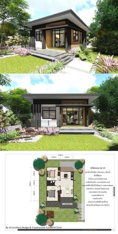 Are you ready to build your own house? Do you already have a concept how would your house look like? Little House Plans, Small Modern House Plans, Home Modern, Contemporary House Plans, Modern Bungalow Exterior, Modern Bungalow House, Modern Farmhouse Exterior, Simple House Design, Minimalist House Design