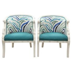 Check out this item at One Kings Lane! Kilimanjaro Swan Chairs, Pair