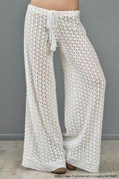 Los patrones de ganchillo para probar: Gráficas de crochet libre para los pantalones de verano espectacular