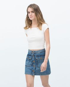 Image 2 of KNIT CROP TOP from Zara