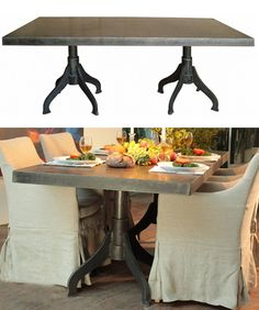 BoBo Intriguing Objects Zinc Sawhorse Dining Table traditional
