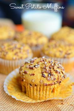 Sweet Potato Muffins | from willcookforsmiles.com | #sweetpotato #muffins