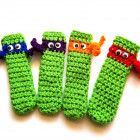 TMNJ Inspired Popsicle Covers Crochet Freeze Pop Holders Set of 4