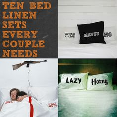 10 Bed Linen Sets Every Couple Needs - Style It Like You Stole It Funny Picture Quotes, Funny Pictures, Funny Pics, Linen Bedding, Bedding Sets, Bed Sets For Sale, Free Printable Art, Luxury Bedding Collections, Linnet