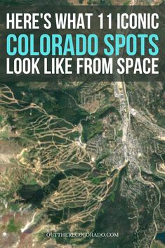 Colorado's landscape is stunning from ground level, but it can be appreciated in an entirely different light from space. Here's how several iconic Colorado spots look from thousands of feet above the surface. #OutThereColorado #Travel #Colorado #ColoradoVacation #ColoradoSprings #Denver #Breckenridge #RockyMountainNationalPark #Mountains #Adventure #ColoradoFall #ColoradoPhotography #ColoradoWildlife #Mountains #Explore #REI #optoutside Road Trip To Colorado, Visit Colorado, State Of Colorado, Colorado National Monument, Rocky Mountain National Park, Red Rock Amphitheatre, Front Range, How To Level Ground, Mountain View