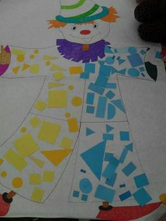 Clown Crafts, Circus Crafts, Carnival Crafts, Kids Crafts, Carnival Decorations, Summer Crafts, Diy And Crafts, Theme Carnaval, Clown Party