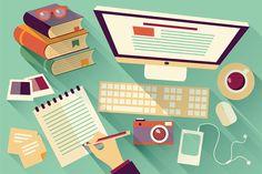 Flat Design Office Desk 04 on Behance