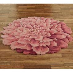 Deena Blooms Flower Shaped Round Rugs