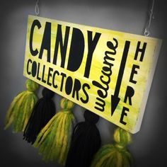 Halloween Door Sign by PrettyTuesday on Etsy