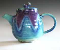 #ceramics #teapot I really like this glaze pattern it is so different!