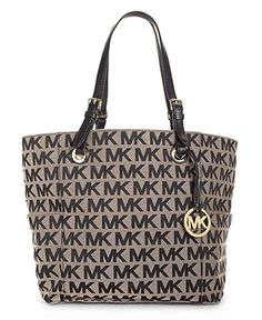 52e4710d07 MICHAEL Michael Kors Block Monogram Signature Tote Handbags   Accessories -  Macy s