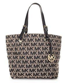 94e240ad9d80 MICHAEL Michael Kors Block Monogram Signature Tote Handbags   Accessories -  Macy s