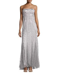 Strapless Embellished Gown, Platinum by Sue Wong at Neiman Marcus Last Call.