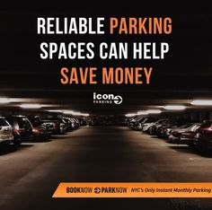 Reliable Parking Spaces Can Help Save Money - Icon Parking offers safe & secure parking all across #NewYorkCity so you can find a parking spot in a location that's most convenient for you.   🚘 Check our #MarchSpecials and SAVE up to 20% OFF.  📲 Contact us today for more information or secure a monthly parking spot through our contactless app.  #IconParkingNYC #ParkWithUs Icon Parking, Parking Space, Saving Money, Nyc, Spaces, Canning, Check, How To Save Money, Save My Money