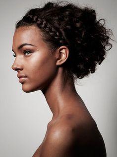 Jessica Strother Natural Hair Bun