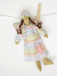 Boneca Tecido Guardian angel boneca de fadas doces sonhos multicolor vestido listrado de pano boneca de pelúcia boneca de presente para a menina e menino presente para o aniversário