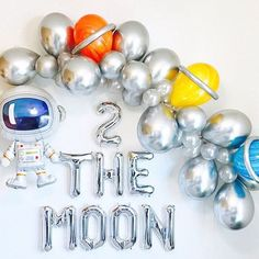 Space Balloon Garland Space party Out of this world Outer Space Party Astronaut Balloon Blast off Space Birthday To the Moon 2nd Birthday Party Themes, Boy Birthday Parties, Birthday Party Decorations, Birthday Blast, Balloon Birthday, Birthday Garland, Second Birthday Ideas, Theme Parties, Astronaut Party
