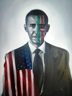 "Barack Obama by Tatyana Fazlalizadeh - www.tlynnfaz.com – FuTurXTV & Funk Gumbo Radio: http://www.live365.com/stations/sirhobson and ""Like"" us at: https://www.facebook.com/FUNKGUMBORADIO"