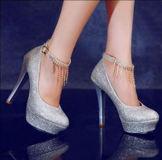 Waterfall Ankle Strap Platform Stilettos - Shoes Galore | YESSTYLE