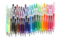 Pilot Juice Gel Ink Pens - 0.5 mm http://www.jetpens.com/Pilot-Juice-Gel-Ink-Pens/ct/1711