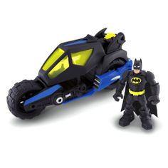 Hero World DC Super Friends Batman and Batcycle