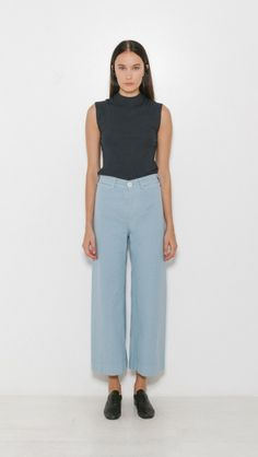 Jesse Kamm Sailor Pant in Piscine Blue | The Dreslyn