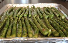 Roasted asparagus with parmesan. Delicious and healthy!