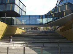 Sorprendentes ejemplos de rampas integradas en escaleras