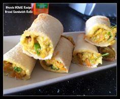 Bhuvis HOME Recipe: BREAD SANDWICH ROLLS
