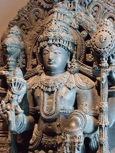 The Hindu deity Vishnu 1200-1300 CE India Chloritic schist (1)
