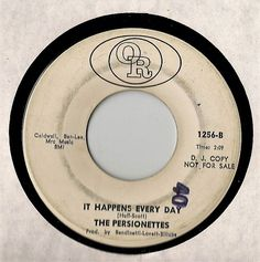 The Persionettes 45~Call On Me/It Happens Every Day~OR promo DJ northern soul VG #NorthernSoul