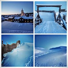 The blue hour at Røros. Photo by Tove Velle.
