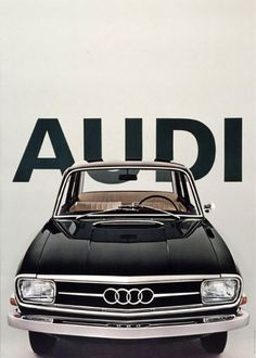 Vintage Audi poster. Looks like it was created sometime between 1968 and 1972 by Armin Hofmann.