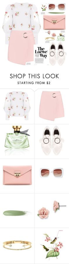 """""""Floral puffy shirt"""" by paculi ❤ liked on Polyvore featuring Bulgari, Joanie, 1928, Delfina Delettrez, Loewe, StreetStyle, Spring, casual and floral"""