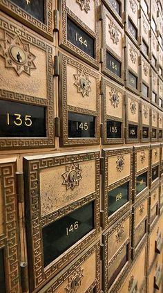 Imagine: Paris, by the numbers. Beautiful mailboxes <3