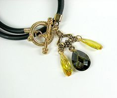 Moss green & yellow #boho #chic charm #bracelet  $40.00