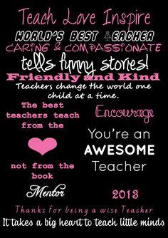 Nice Teacher Sayings