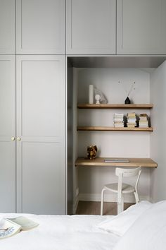 A cozy bedroom with the cutest study corner and A.Helsingö ENSIÖ wardrobe in Thermal Grey. A cozy bedroom with the cutest study corner and A.Helsingö ENSIÖ wardrobe in Thermal Grey. Bedroom Built In Wardrobe, Bedroom Closet Design, Pax Corner Wardrobe, Ikea Pax Wardrobe, Wardrobe Storage, Study Corner, Cozy Bedroom, Bedroom Corner, Trendy Bedroom