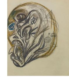 """PAD Plate 26 - 1939-40 - Colored pencil, lead pencil on paper - 10-1/4"""" X 8-1/4"""" - Sold by Sotheby's 9/22/2011 to a Private  Collector for $146,000. Copyright according to Sotheby's PKF/ARS"""