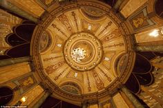 A detail of the ceiling in The Grand Assembly, The State Theatre, Sydney...