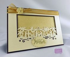 Christmas card made using the Die'sire Christmas Edgeable dies from #crafterscompanion