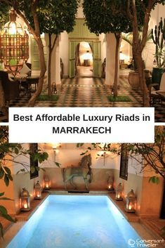 Here are some of the best affordable luxury riads in Marrakech, Morocco. You have to stay in a riad if you're visiting Marrakech, it's the best way to experience the Red City, and luxury doesn't have to mean expensive when it comes to accommodation here.
