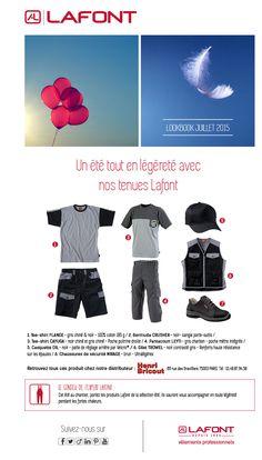 Création d'un emailing Lookbook pour Lafont, marque de vêtements de travail