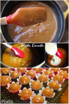 brigadeiro-de-caramelo Brigadeiro Cake, Brigadeiro Recipe, Raw Food Recipes, Sweet Recipes, Cooking Recipes, Dessert Packaging, Easy Sweets, Portuguese Recipes, English Food