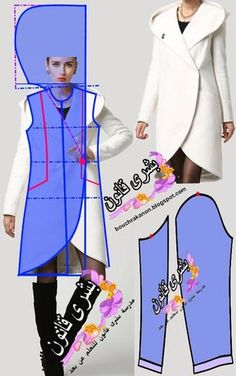 Amazing Sewing Patterns Clone Your Clothes Ideas. Enchanting Sewing Patterns Clone Your Clothes Ideas. Coat Patterns, Dress Sewing Patterns, Clothing Patterns, Skirt Patterns, Blouse Patterns, Fashion Sewing, Diy Fashion, Sewing Clothes, Diy Clothes