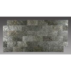Peel and Stick Natural Stone Silver Shine 4.5 sq. ft. 6 x 9-inch Backsplash Tiles