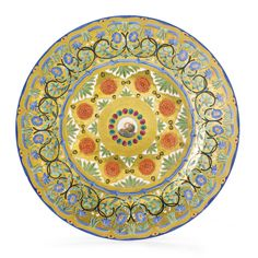 A RARE RUSSIAN PORCELAIN PLATE FROM A SERVICE FOR THE SHAH OF PERSIA, IMPERIAL PORCELAIN MANUFACTORY, ST. PETERSBURG, AFTER 1837-1845