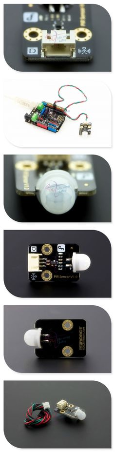 DFRobot PIR/Human pyroelectric infrared motion sensor, 3.3 ~ 5V/15uA 7m with Digital cable for Arduino UNO/Due Rassperry Pi B/B+