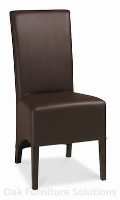Lyon Walnut Wing Back Faux Leather Dining Chairs - Brown - Pair Bentley Design, Dark Wood Furniture, Faux Leather Dining Chairs, Dark Walnut, Lyon, Accent Chairs, Modern Design, Home Decor, Upholstered Chairs